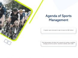 Agenda Of Sports Management Will Attract Ppt Powerpoint Presentation Gallery Background Designs
