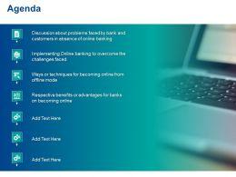 Agenda Online Banking Ppt Powerpoint Presentation Slides Gridlines