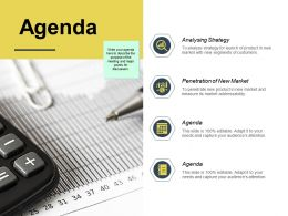Agenda Penetration Of New Market K179 Ppt Powerpoint Presentation Sample
