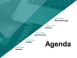 Agenda Portfolio A411 Ppt Powerpoint Presentation Inspiration File Formats