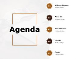 Agenda Portfolio Ppt Powerpoint Presentation Infographics Infographic Template