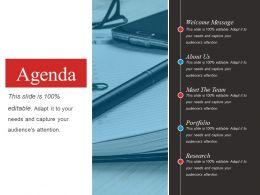 Agenda Powerpoint Slide Clipart