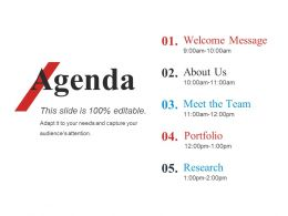 Agenda Powerpoint Slide Designs