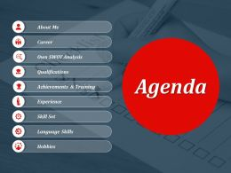 Agenda Powerpoint Slide Presentation Sample