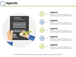Agenda Ppt Infographics Structure