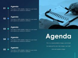 Agenda Ppt Visual Aids Layouts