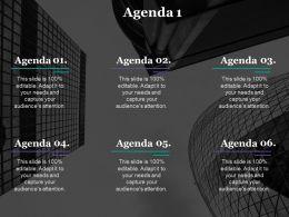 Agenda Presentation Layouts