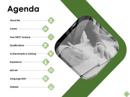 Agenda Qualifications Skills F325 Ppt Powerpoint Presentation Pictures Icon
