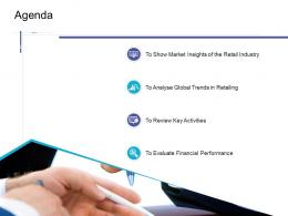 Agenda Retail Sector Overview Ppt File Elements Infographics Deck