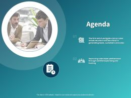 Agenda Sales Team Ppt Powerpoint Presentation Show Format