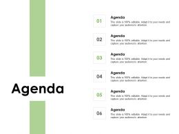 Agenda Six Process F373 Ppt Powerpoint Presentation Outline Slideshow
