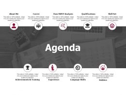 Agenda Skill Set Language Skills Ppt Powerpoint Presentation Infographics Guide