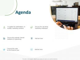 Agenda Stakeholders Monthly Marketing Activities N44 Ppt Powerpoint Presentation Layout Ideas