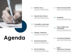 Agenda Strategic Positioning L1170 Ppt Powerpoint Presentation Template