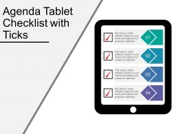 Agenda Tablet Checklist With Ticks