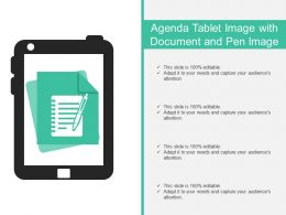 Agenda Tablet Image With Document And Pen Image
