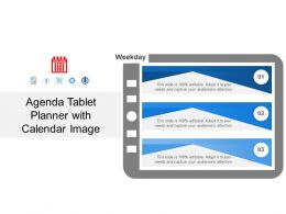 Agenda Tablet Planner With Calendar Image