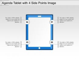 Agenda Tablet With 4 Side Points Image