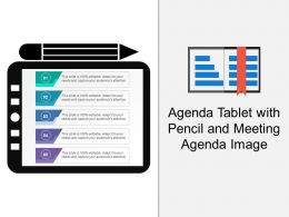 Agenda Tablet With Pencil And Meeting Agenda Image
