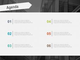 Agenda Tag With Six Points For Business Info Powerpoint Slides