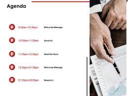 Agenda Team M205 Ppt Powerpoint Presentation Infographics Good