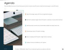 Agenda Technology Disruption In HR System Ppt Guidelines