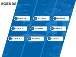 Agenda Template Design For Nine Different Business Agendas Powerpoint Slide