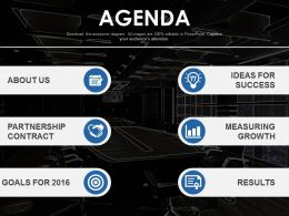 Agenda Template Design For Various Business Processes Powerpoint Slide