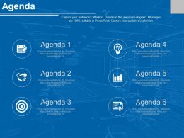 Agenda Template For Six Business Agenda For Idea Generation And Quality Assessment Powerpoint Slide