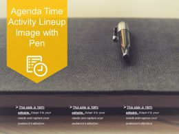 Agenda Time Activity Lineup Image With Pen