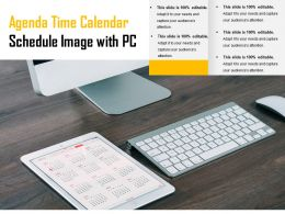 Agenda Time Calendar Schedule Image With Pc