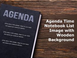 Agenda Time Notebook List Image With Wooden Background