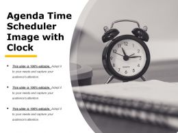 Agenda Time Scheduler Image With Clock