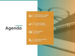 Agenda Trends In Retailing Ppt Powerpoint Presentation Design Templates