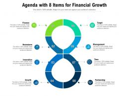Agenda With 8 Items For Financial Growth