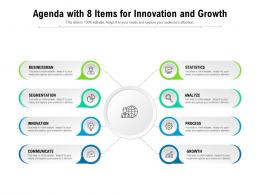 Agenda With 8 Items For Innovation And Growth