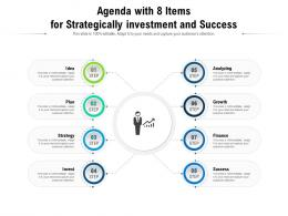 Agenda With 8 Items For Strategically Investment And Success