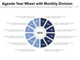 Agenda Year Wheel With Monthly Division