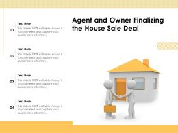 Agent And Owner Finalizing The House Sale Deal