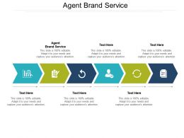 Agent Brand Service Ppt Powerpoint Presentation Professional Brochure Cpb