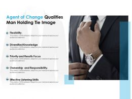 Agent Of Change Qualities Man Holding Tie Image