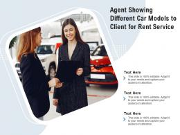 Agent Showing Different Car Models To Client For Rent Service