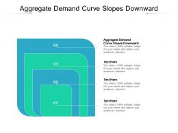 Aggregate Demand Curve Slopes Downward Ppt Powerpoint Model Diagrams Cpb