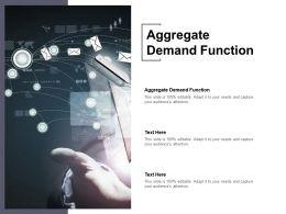 Aggregate Demand Function Ppt Powerpoint Presentation Slides Deck Cpb
