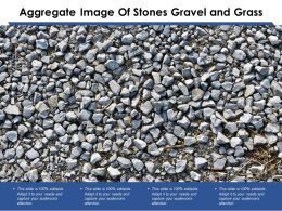 Aggregate Image Of Stones Gravel And Grass