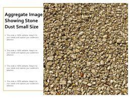 Aggregate Image Showing Stone Dust Small Size