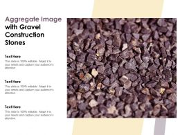 Aggregate Image With Gravel Construction Stones