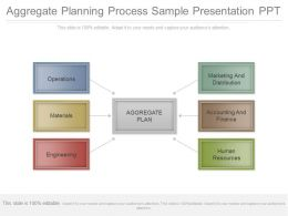 Aggregate Planning Process Sample Presentation Ppt