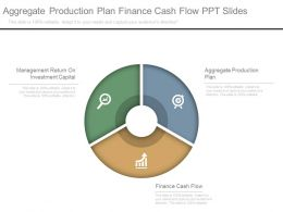 Aggregate Production Plan Finance Cash Flow Ppt Slides