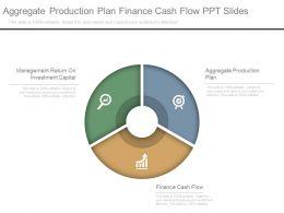 Aggregate Production Plan Finance Cash Flow Ppt Slides
